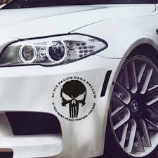 16 16cm Cool Punisher Skull Car Sticker Car Bumper Stickers And Decals Car Styling Decoration Door Body Window Vinyl Stickers Car Stickers Aliexpress