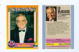 ed mcn hollywood card johnny carson