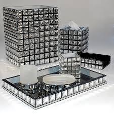 crystal bathroom black and silver