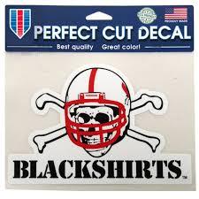 Nebraska Cornhuskers Wincraft Black Shirts 6 X 6 Color Decal