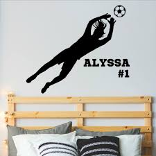 Personalized Girls Soccer Goalie Wall Decal Vinyl Written