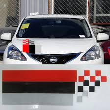Car Decals Racing Sport Flags 17 5 X5 5 For Tiida Teana Bluebird Vinyl Hood Sticker Cf42 Hood Decal Car Hood Decalsflag Decal Aliexpress