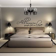 Amazon Com All Because Two People Fell In Love Wall Decal Love Words Expressions Sayings Quotes Typography Black Medium Home Kitchen