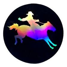 Rodeo 3 5 Sticker Decal Car 3d Reflective Window Truck Cowgirl Love Horse First Ebay
