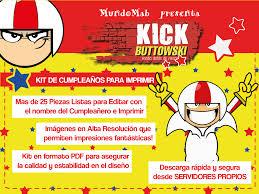 Kick Buttowski Set De Cumpleanos Para Imprimir Invitaciones