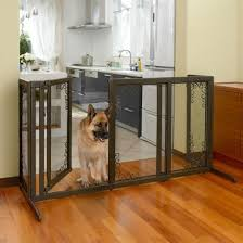 Bronze Mesh Home Pet Barrier Gate With Door Officialdoghouse