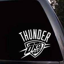 Car Styling For Oklahoma City Thunder Logo Nba Car Window Truck Laptop Wall Vinyl Decal Sticker Car Styling Vinyl Decals Stickersdecal Sticker Aliexpress