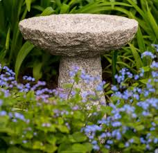 tom chambers small stone bird bath