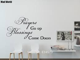 Prayers Blessings God Bible Love Quote Wall Art Stickers Wall Decals Home Diy Decoration Removable Room Decor Wall Stickers Wall Stickers Aliexpress
