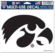 Amazon Com Wincraft Iowa Hawkeyes Removable 5 X6 Car Decal Sports Fan Automotive Decals Sports Outdoors
