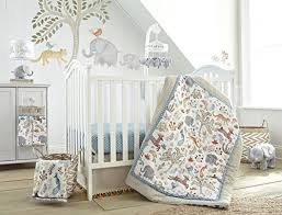 Levtex Baby Jungalo Animal Themed 5 Piece Crib Bedding Set Quilt 100 Cotton Crib Fitted Sheet Dust Ruffle Diaper Stacker And Large Wall Decals Buy Online In El Salvador Levtex