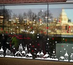 Totomo W102 Christmas Town Window Wall Decal Stickers Totomo Us