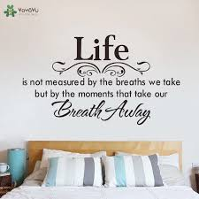 Life Quotes Wall Sticker Master Bedroom Headboard Wall Decal Motto Poem Saying Home Decor Art Mural Modern Design Removablesy447 Headboard Wall Decal Designer Wall Stickerswall Sticker Aliexpress