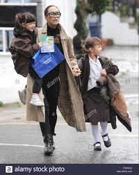 Myleene Klass takes her daughters Hero Harper Quinn and Ava Bailey Stock  Photo - Alamy