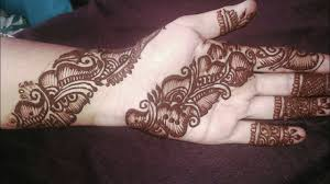 mehndi design in front