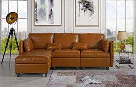 leather match sectional sofa