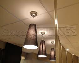 drop ceiling tile showroom suspended