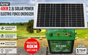 New 40km 2 5j Solar Power Electric Fence Energizer Charger For Poly Wire Tape Po Ebay