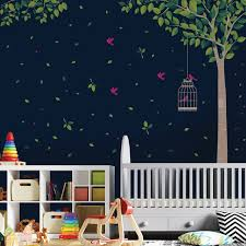 Shop Walplus Huge Green Tree Peel And Stick Wall Sticker Wall Decal Home Decor Overstock 31908582