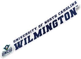 Amazon Com University Of North Carolina Wilmington Uncw Seahawks Ncaa Name Logo Vinyl Decal Laptop Water Bottle Car Scrapbook 8 Inch Sticker Sports Outdoors