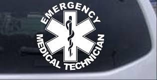 Emergency Medical Technician Emt Car Or Truck Window Decal Sticker Rad Dezigns