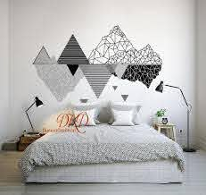 Mountain Wall Decal Mountain Decal Mountain Wall Art Etsy In 2020 Mountain Wall Decal Bedroom Wall Wall Paint Designs