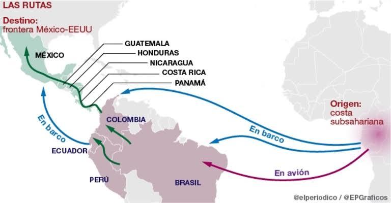 """Resultado de imagen de rutas de migrantes centroamericanos"""""""