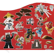 Lego Ninjago Wall Stickers Official New 25 Pieces Room Decor On Popscreen