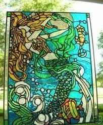 ocean stained glass window