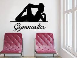 Wall Decals Gymnastics Decal Vinyl Sticker Sport Gymnastics Etsy