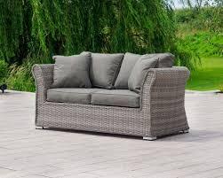 lisbon 2 seat rattan garden sofa in