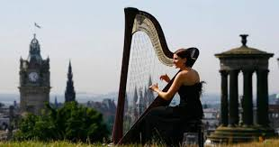 hire harpists available in london