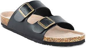 slip on flat casual cork sandals