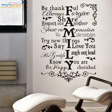 House Rules Wall Stickers Home Decorations Zooyoo8224 Living Room Design Home Decoration Sticker 3d Removable Vinyl Wall Decals Vinyl Wall Decals Wall Decalshouse Rules Aliexpress