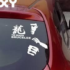 Motocicleta Adhesivos Etiquetas Engomadas Reflexivas Etiquetas De Coche Bruce Lee Adhesivos Para El Parachoques Del Coche Envio De La Gota T Todayshipit Com