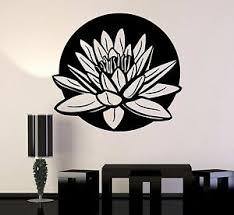 Vinyl Wall Stickers Lotus Floral Art Yoga Studio Meditation Room Decal 238ig Ebay