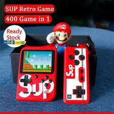 Máy chơi game cầm tay mini chứa 400 trò chơi trong 1 màn hình 3.0 inch kết  nối AV TV có trò Mario Bomberman kiểu retro