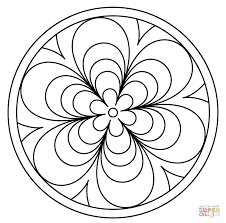 Simple Mandala Coloring Page - Coloring Home