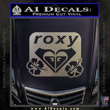 Roxy Dual Hibiscus Decal Sticker A1 Decals