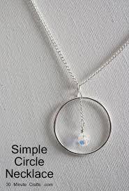 circle pendant necklace 30 minute