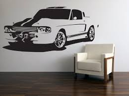 Vinyl Wall Decal Classic American Muscle Car 60s Ford Mustang Gt 500 Ford Mustang 1960 Mustang Dream Cars