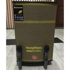 Loa karaoke gia đình hát cực hay, loa di động giá rẻ JBL 1204 kèm 2 micro  không dây, công suất lớn, hát hay và bền