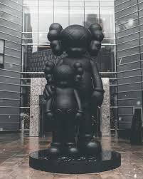 hd wallpaper kaws statue waiting