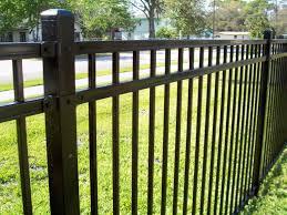 3 Rail Flat Top Aluminum Fence