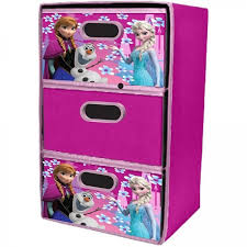 Frozen Storage Cube Playroom Disney Upright Collapsible Three Drawer Cabinet Disney Soft Storage Cube Storage Kids Bedroom Accessories