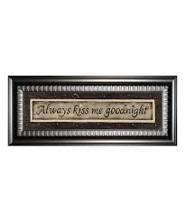 kiss me goodnight framed wall art