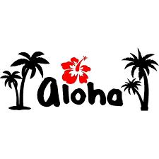 Vwaq Aloha Wall Decal Hibiscus Flower Wall Sticker Hawaiian Home Decor Vwaq 1086 12 H X 30 W Walmart Com Walmart Com