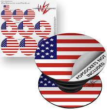 Decal Style Vinyl Skin Wrap 3 Pack For Popsockets Usa American Flag 01 Popsocket Not Included By Wraptorskinz Walmart Com Walmart Com