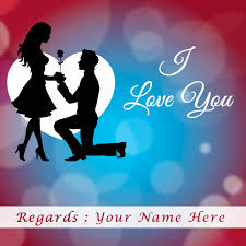 write name on i love you images