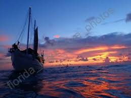 desktop wallpaper schooner at sunset